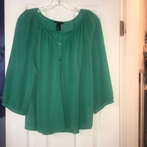 H&M Sheer Blouse Size 12
